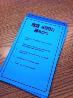 middleschool QR sheet